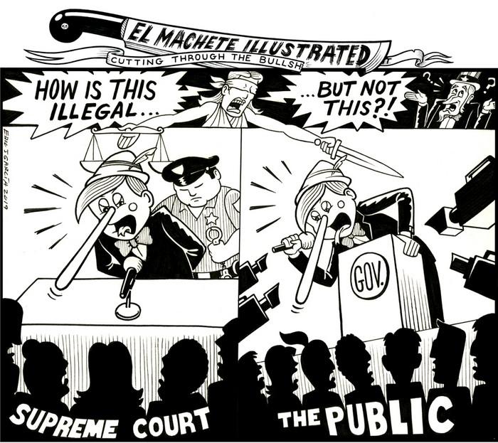 BlackCommentator.com March 07, 2019 - Issue 779: Pinocchio - Political Cartoon By Eric Garcia, Chicago IL
