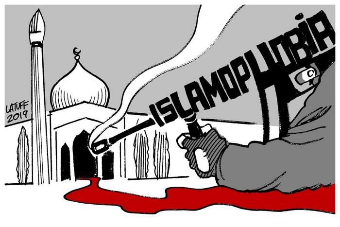 BlackCommentator.com March 21, 2019 - Issue 781: Islamophobia Kills - Political Cartoon By Carlos Latuff, Rio de Janeiro Brazil