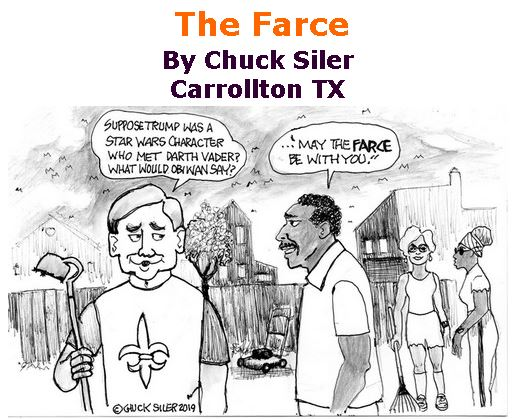 BlackCommentator.com March 21, 2019 - Issue 781: The Farce - Political Cartoon By Chuck Siler, Carrollton TX