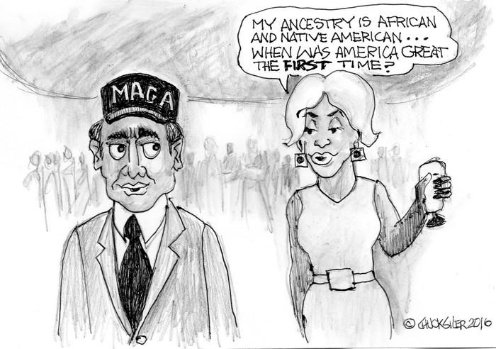 BlackCommentator.com March 28, 2019 - Issue 782: MAGA? - Political Cartoon By Chuck Siler, Carrollton TX