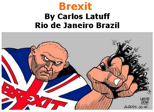BlackCommentator.com April 04, 2019 - Issue 783: Brexit - Political Cartoon By Carlos Latuff, Rio de Janeiro Brazil