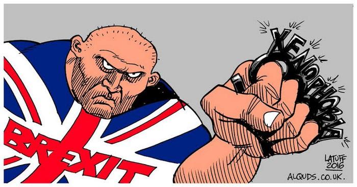 BlackCommentator.com April 04, 2019 - Issue 783: Brexit - Political Cartoon By Carlos Latuff, Rio de Janeiro Brazil