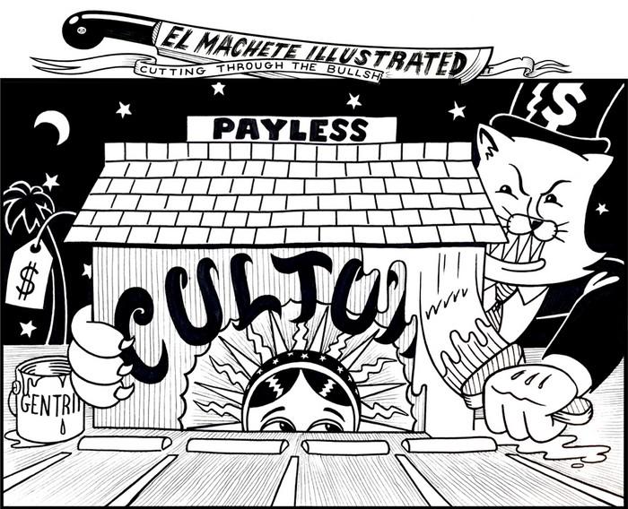 BlackCommentator.com April 11, 2019 - Issue 784: Gentrification - Political Cartoon By Eric Garcia, Minneapolis MN