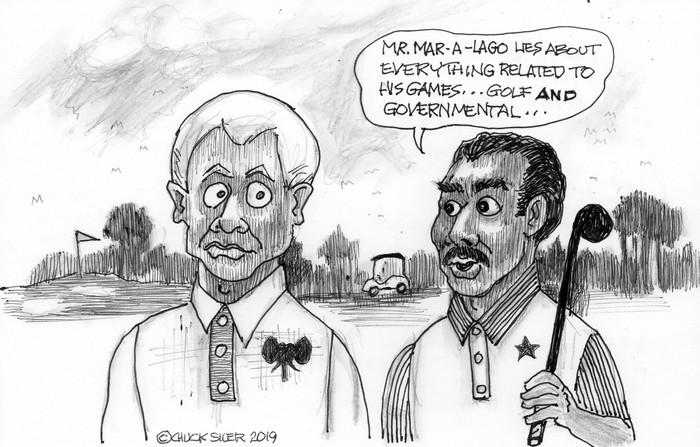 BlackCommentator.com April 18, 2019 - Issue 785: Mr. Mar Lies - Political Cartoon By Chuck Siler, Carrollton TX
