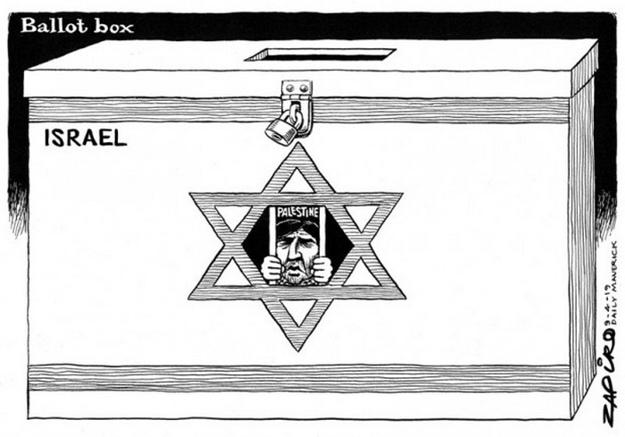 BlackCommentator.com April 18, 2019 - Issue 785: Isreal Election - Political Cartoon By Zapiro, South Africa