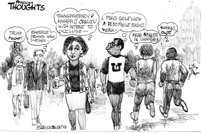BlackCommentator.com May 09, 2019 - Issue 788: Random 45 Thoughts - Political Cartoon By Chuck Siler, Carrollton TX