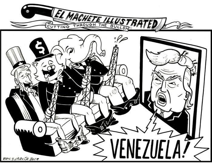 BlackCommentator.com May 23, 2019 - Issue 790: Venezuela - Political Cartoon By Eric Garcia, Minneapolis MN