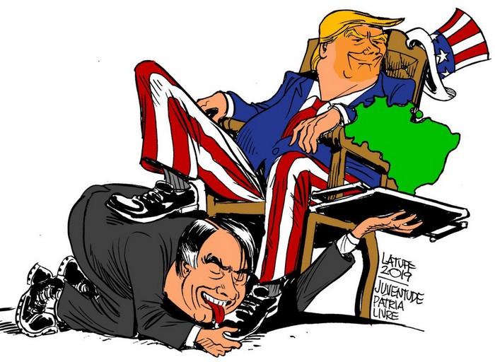 BlackCommentator.com May 23, 2019 - Issue 790: Bolsonaro - Our President - Political Cartoon By Carlos Latuff, Rio de Janeiro Brazil