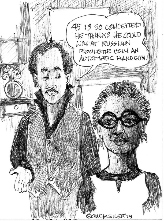 BlackCommentator.com May 23, 2019 - Issue 790: Conceit - Political Cartoon By Chuck Siler, Carrollton TX