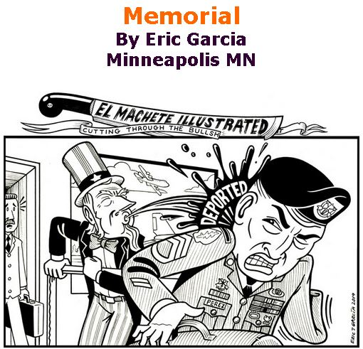 BlackCommentator.com May 30, 2019 - Issue 791: Memorial - Political Cartoon By Eric Garcia, Minneapolis MN
