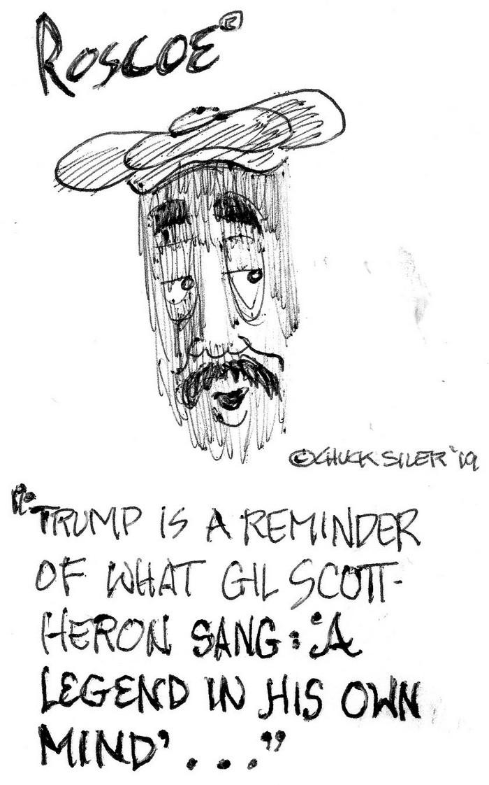 BlackCommentator.com May 30, 2019 - Issue 791: Legend of 45 - Political Cartoon By Chuck Siler, Carrollton TX