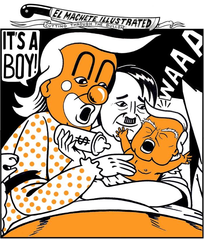 BlackCommentator.com July 18, 2019 - Issue 798: It's a Boy - Political Cartoon By Eric Garcia, Minneapolis MN
