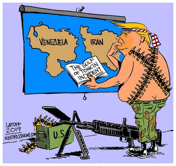 BlackCommentator.com July 25, 2019 - Issue 799: 45 - Student of History - Political Cartoon By Carlos Latuff, Rio de Janeiro Brazil