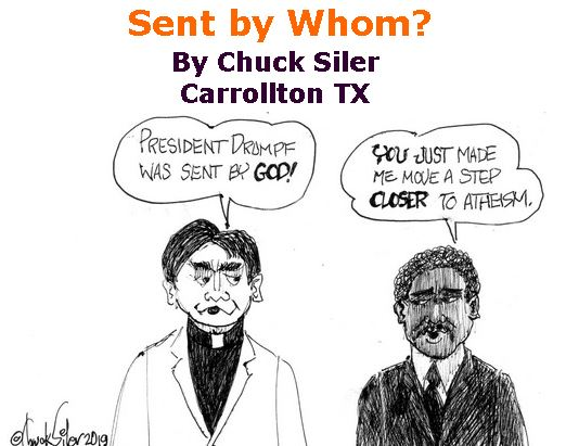 BlackCommentator.com Jan 16, 2020 - Issue 801: Sent by Whom? - Political Cartoon By Chuck Siler, Carrollton TX