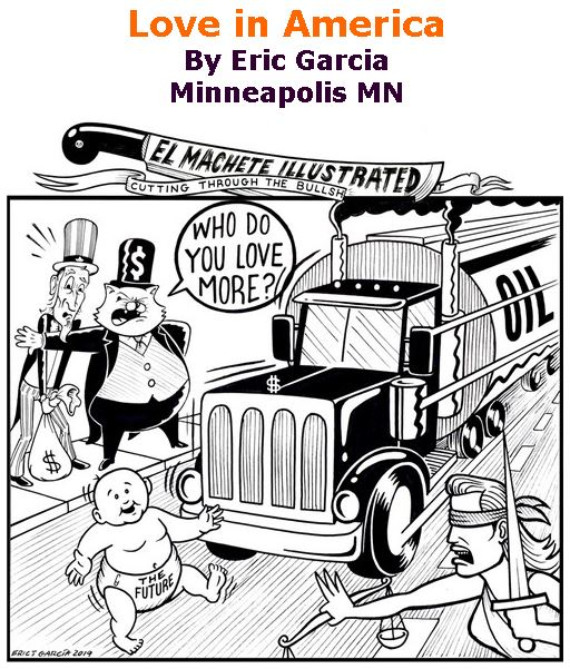 BlackCommentator.com Jan 23, 2020 - Issue 802: Love in America - Political Cartoon By Eric Garcia, Minneapolis MN