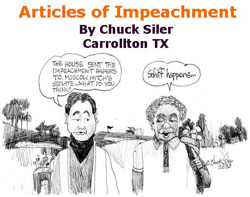 BlackCommentator.com Jan 23, 2020 - Issue 802: Articles of Impeachment - Political Cartoon By Chuck Siler, Carrollton TX