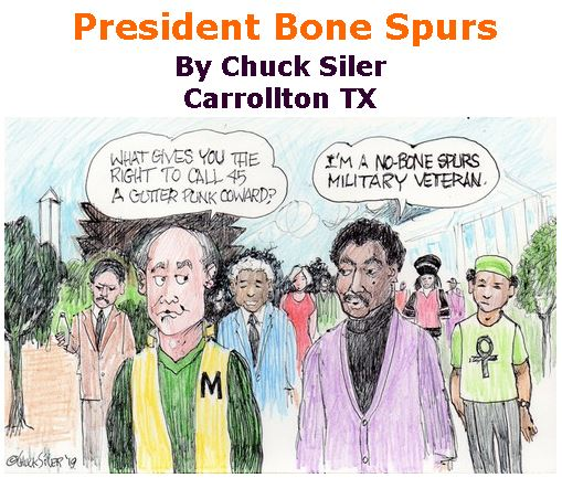 BlackCommentator.com Feb 13, 2020 - Issue 805: President Bone Spurs - Political Cartoon By Chuck Siler, Carrollton TX
