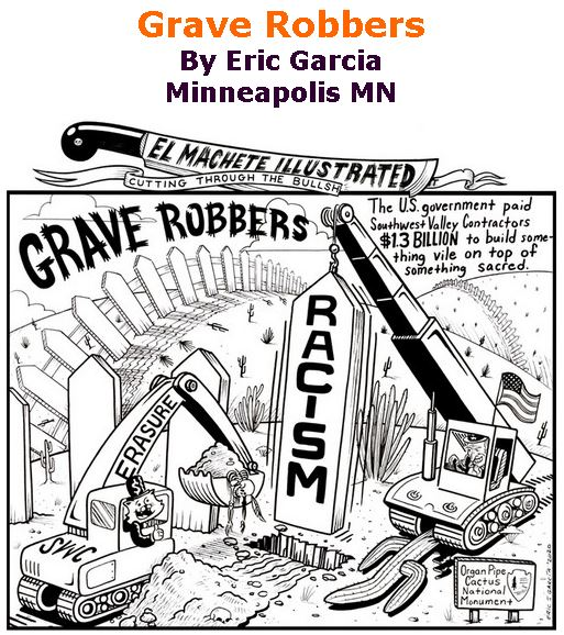 BlackCommentator.com Mar 12, 2020 - Issue 809: Grave Robbers - Political Cartoon By Eric Garcia, Minneapolis MN