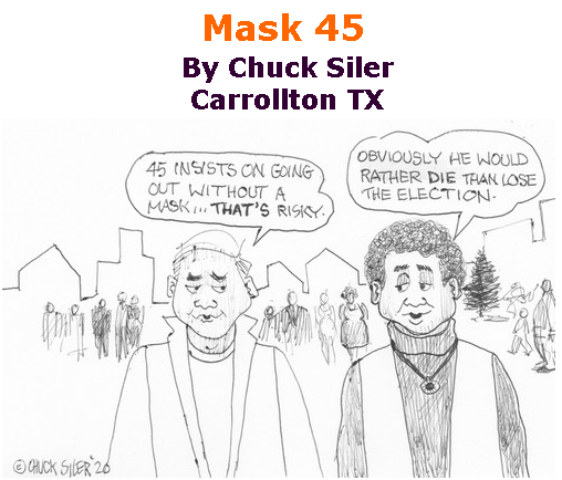 BlackCommentator.com July 09, 2020 - Issue 826: Mask 45 - Political Cartoon By Chuck Siler, Carrollton TX