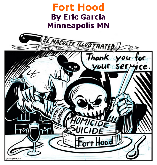 BlackCommentator.com Sept 17, 2020 - Issue 833: Fort Hood - Political Cartoon By Eric Garcia, Minneapolis MN