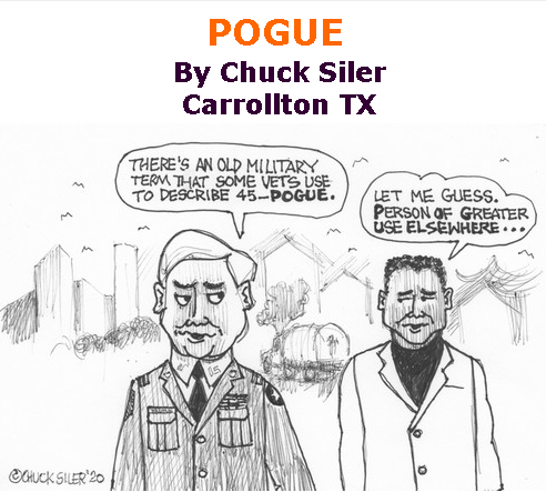 BlackCommentator.com Sept 17, 2020 - Issue 833: POGUE - Political Cartoon By Chuck Siler, Carrollton TX