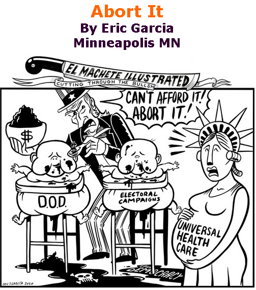 BlackCommentator.com Sept 24, 2020 - Issue 834: Abort It - Political Cartoon By Eric Garcia, Minneapolis MN