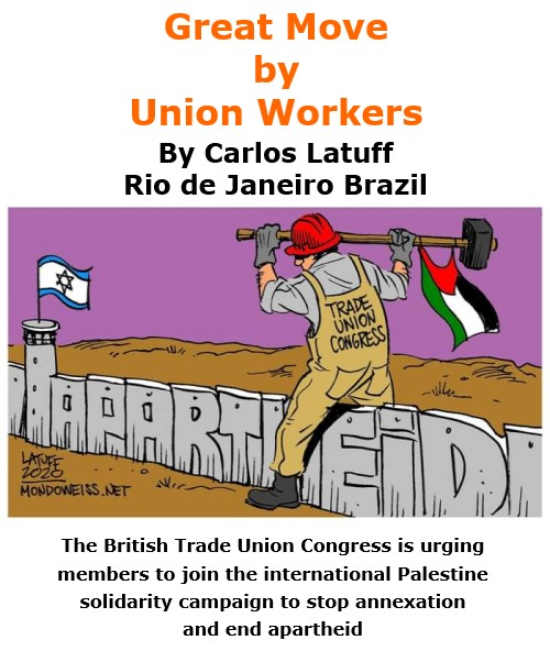 BlackCommentator.com Oct 15, 2020 - Issue 837: Great Move by Union Workers - Political Cartoon By Carlos Latuff, Rio de Janeiro Brazil