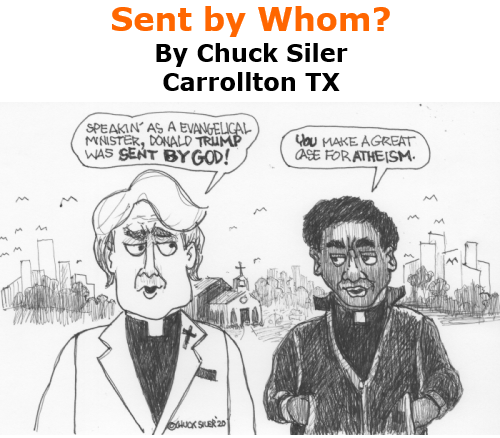 BlackCommentator.com Oct 22, 2020 - Issue 838: Sent by Whom? - Political Cartoon By Chuck Siler, Carrollton TX