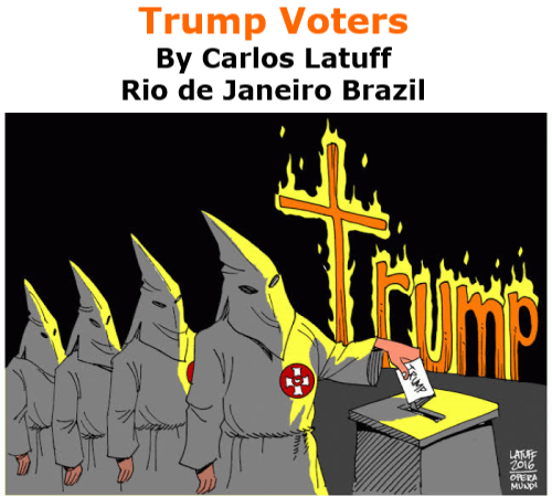 BlackCommentator.com Nov 6, 2020 - Issue 840: Trump Voters - Political Cartoon By Carlos Latuff, Rio de Janeiro Brazil