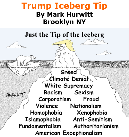 BlackCommentator.com Nov 19, 2020 - Issue 842: Trump Iceberg Tip - Political Cartoon By Mark Hurwitt, Brooklyn NY