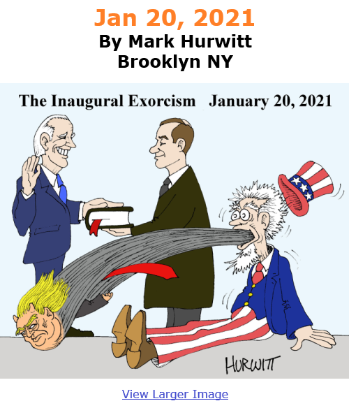 BlackCommentator.com Jan 14, 2021 - Issue 848: Jan 20, 2021 - Political Cartoon By Mark Hurwitt, Brooklyn NY