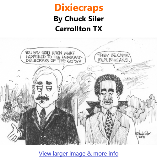 BlackCommentator.com Mar 25, 2021 - Issue 858: Dixiecraps - Political Cartoon By Chuck Siler, Carrollton TX
