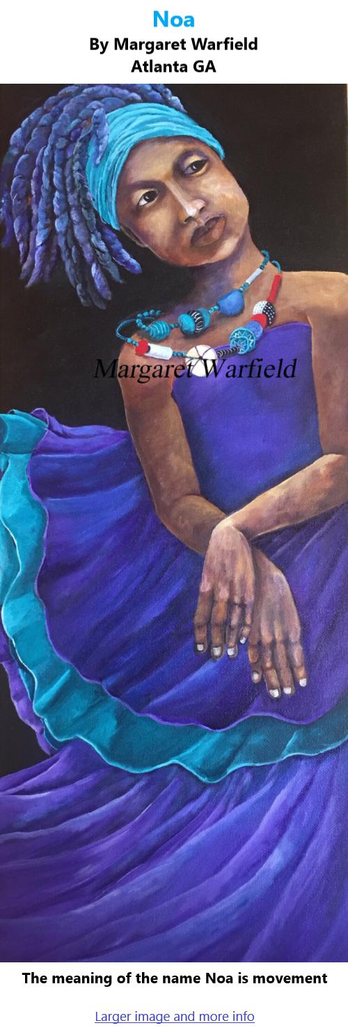 BlackCommentator.com July 22, 2021 - Issue 875: Noa - Art By Margaret Warfield, Atlanta GA