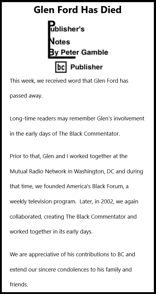 Glen Ford has died