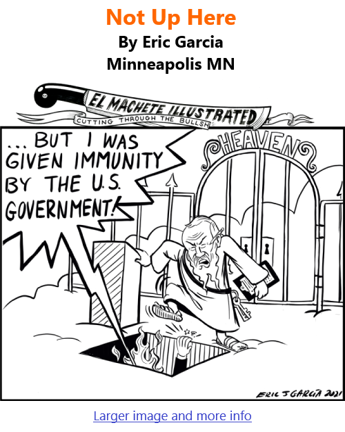 BlackCommentator.com Sept 16, 2021 - Issue 879: Not Up Here - Political Cartoon By Eric Garcia, Minneapolis MN