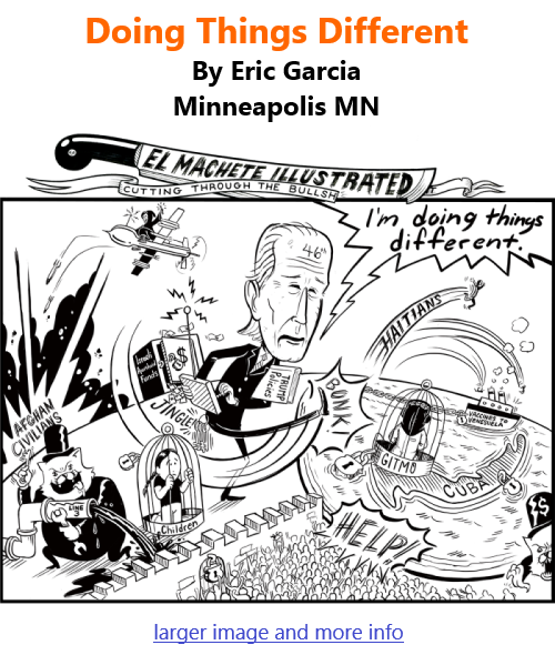 BlackCommentator.com Sept 30, 2021 - Issue 881: Doing Things Different - Political Cartoon By Eric Garcia, Minneapolis MN