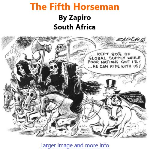 BlackCommentator.com Oct 21, 2021 - Issue 884: The Fifth Horseman - Political Cartoon By Zapiro, South Africa
